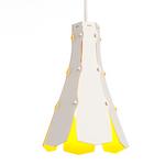 tweezijdige lampenkap Lily geel  Karton  Interieurdecoratie