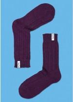 Warme 'laars' kousen paars  Kousen  Kousen/sokken