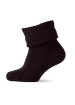 Warme wollen sokken - met sterke rib aan been - zwart  Kousen  Kousen/sokken
