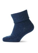 Warme wollen sokken volledig geribd - marine  Kousen