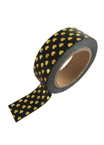 washi/masking tape Black gold foil hearts  Karton