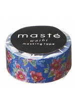 washi/masking tape Flower Blue  Karton