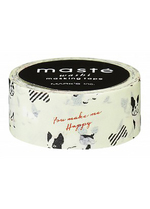 washi/masking tape French bulldog  Karton