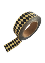 washi/masking tape Gold/black foil diamond  Karton  Masking tape/Washi tape