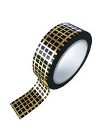 washi/masking tape gold foil grid  Karton