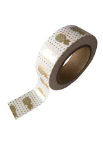 washi/masking tape Gold foil pineappel  Karton