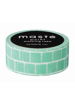 washi/masking tape Green block  Karton