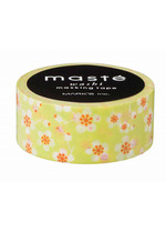 washi/masking tape Green plum flower  Karton