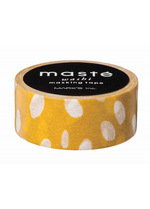 washi/masking tape Mustard Dot drops  Karton