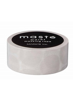 washi/masking tape Warm grey Coin dots  Karton