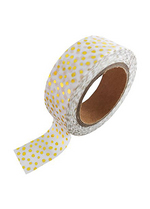 washi/masking tape white gold + foil sprinkles  Karton