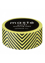 washi/masking tape Yellow/black zigzag  Karton  Masking tape/Washi tape