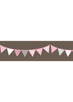 Washi tape - Garland Charcoal gray  Karton