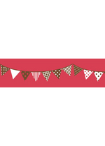 Washi tape - Garland Red  Karton