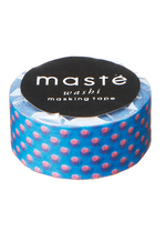 Washi tape - Neon bleu/red polka dots  Karton  Masking tape/Washi tape